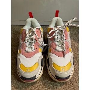 Balenciaga Triple S Pink yellow cream Sneakers